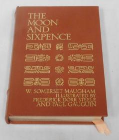 【包邮】1969年The Moon and Sixpence 《月亮与六便士》 Somerset Maugham 毛姆经典 easton press 真皮精装版 Paul Gauguin 经典配图