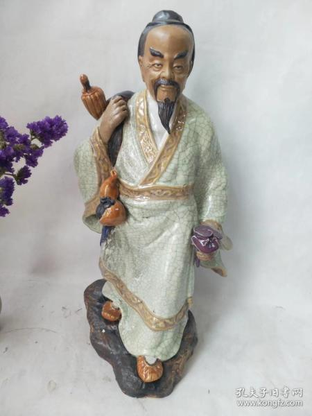下乡收一代医师华佗人物塑像一尊,品相完整,做工精致,人物栩栩如生