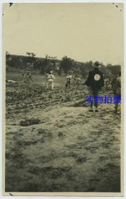 民国1920年代北伐军士兵处决杀死犯人老照片