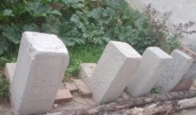 清代山西地方经典石雕----《晋东南民间地方门墩石》-----2对--------虒人荣誉珍藏