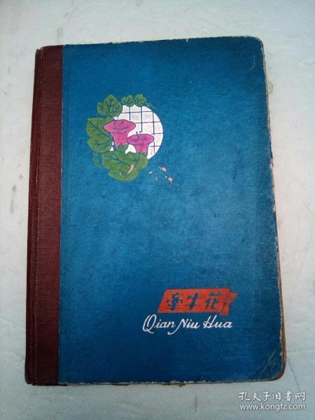 牵牛花笔记本(有毛像和上海插图及多幅手绘图)少见公私合营