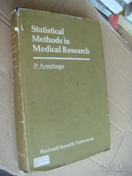 Statistical methods in Medical Research  英文原版 16开布面精装+书衣 插图本