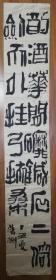 手书真迹书法:中书协会员孙荣刚篆书《酌酒花间磨针石上 倚剑天外挂弓扶桑》(205x34 无钤印)