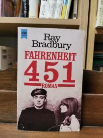 Ray Bradbury 雷·布雷德伯里 : Fahrenheit 451华氏451度 (德文外国文学)德文原版书