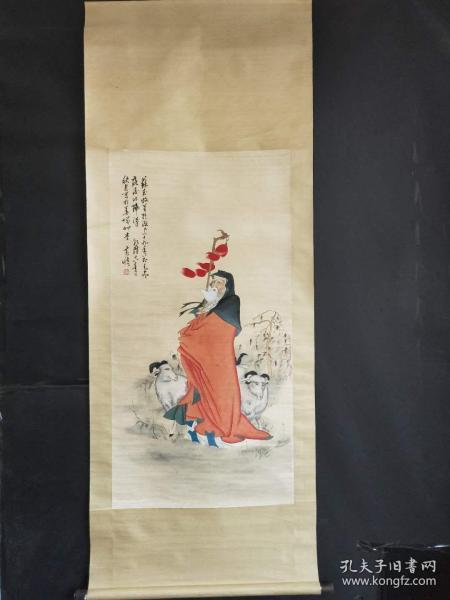 黄慎手绘人物图长两米宽八十公分