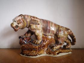 八十年代,陶瓷老虎摆件
