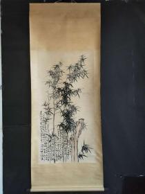 郑板桥手绘画长2.1米宽85公分