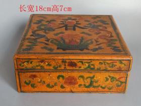 乡下收的清代老漆器盒