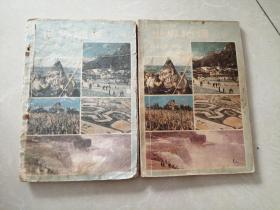 80年代老课本初级中学课本世界地理下册两本合售