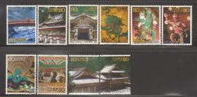 日邮·日本邮票信销·樱花目录编号C1796  2001年第二次世界遗产第一集日光社寺 10枚全