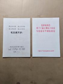 (毛主席万岁!)等2本合售(64开折叠式,1966年)