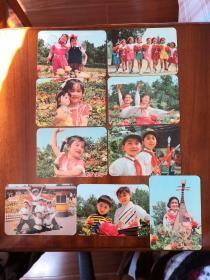 娃娃年历片套卡