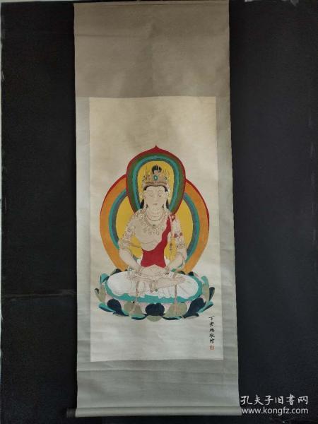 丁芸鹏手绘佛像图2.3米X0.85米
