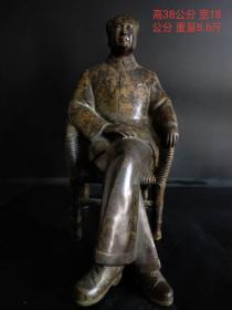 伟大领袖毛主席铜像