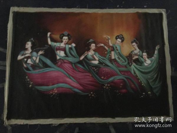 曾浩手绘仕女油画1.90米X1.30米