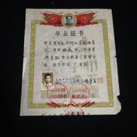 小学毕业证书(1961.7)