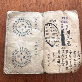 风水地理写本《龙图说》《步龙断》两种一厚册全。