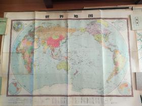 世界地形挂图--中学适用