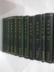 世界历史    1980-1996年共94期     15本精装合订本   详见描述