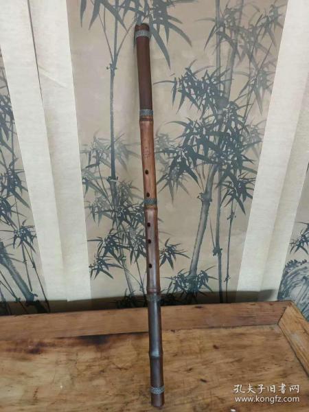 """民俗?紫竹?老乐器""""?箫"""",包浆浓?厚,使?用痕迹明?显,正?常使用,全?品包老。"""