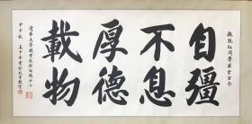 王中平 136*68 纸本镜心。故宫博物院专业书法家,师承刘炳森先生。