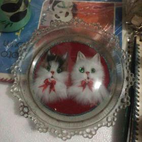 80年代 琉璃猫 摆件