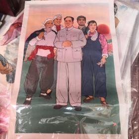 东方红宣传画年画1964年