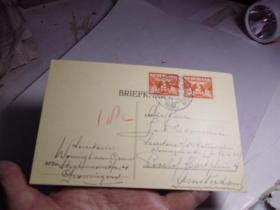 1938年的外国明信片
