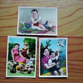 老卡片  年画  3张