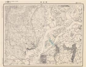 民国二十年(1931年)《南昌老地图》图题为《南昌县》(南昌市新建县南昌县老地图)参谋本部陆地测量总局测绘军(用)地形图,绘制详细。南昌地理地名历史变迁重要史料。原图复制,裱框后,风貌佳。