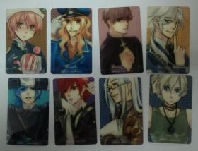 日版漫画卡通卡片8张