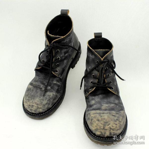 Johnny Depp约翰尼德普爱的鞋手工做旧复古军靴牛仔靴男靴男鞋