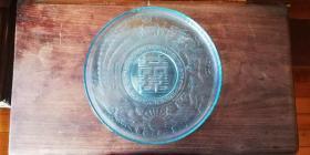 老玻璃茶盘 —— 龙凤呈祥!