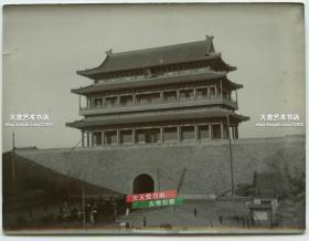 清代1900年前的北京前门正阳门城楼老照片