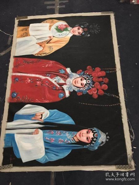 尚谊手绘古装人物油画长1米9宽1米3