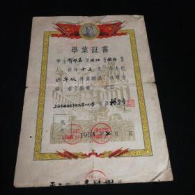小学毕业证书(1958.7)