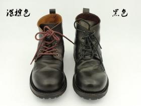 手工私人定制 意大利固特异工艺 军靴款 牛仔靴男鞋 情侣款男士高帮鞋