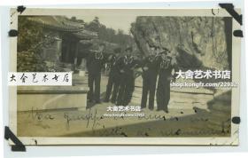 民国时期意大利驻华士兵游览北京颐和园老照片B
