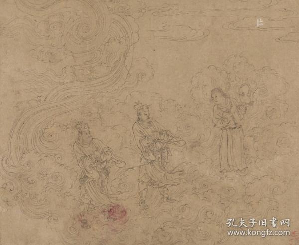 《道子墨宝》图册是一套道教壁画题材的纸本水墨白描画稿,原无题,伪托名唐代画圣吴道子作,可能绘制于宋代。全套现存五十页,大约分三个部分:第一部分描绘的是诸神朝谒、第二部分为地狱变相图、第三部分为搜山图。(高清激光彩色打印成册,多购优惠!)