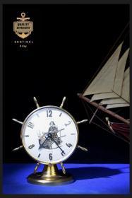英国钟表座钟手动上弦二手旧表SENTINEL8天机械闹钟船钟摆件包邮
