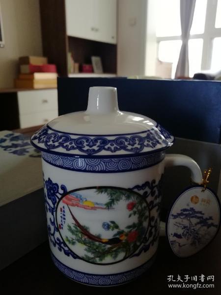 和瓷青花瓷如花似錦單杯
