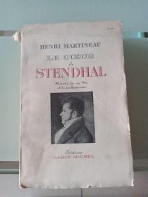 LE CCEUR STENDHAL(英文原版,毛边书,1952年出版)多图片