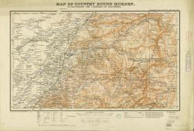 英文版奉天省图复制版辽宁省 1905 Map of the country round Mukden. January, 1905 复制品