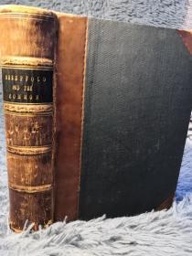 1858年 THE SHEEPFOLD AND THE COMMON OR WITHIN AND WITHOUT  插图版  卷一 半皮装帧 三面书口花纹  18.6X14CM   厚本