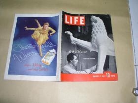 生活画报        完整1册:(美国初版,英文版,1937年1月号,登载毛主席和中国红军几十幅照片,8开本,封皮见照片、内页97-10品)