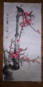 手绘真迹国画:陈静花鸟画11(2尺x1尺)