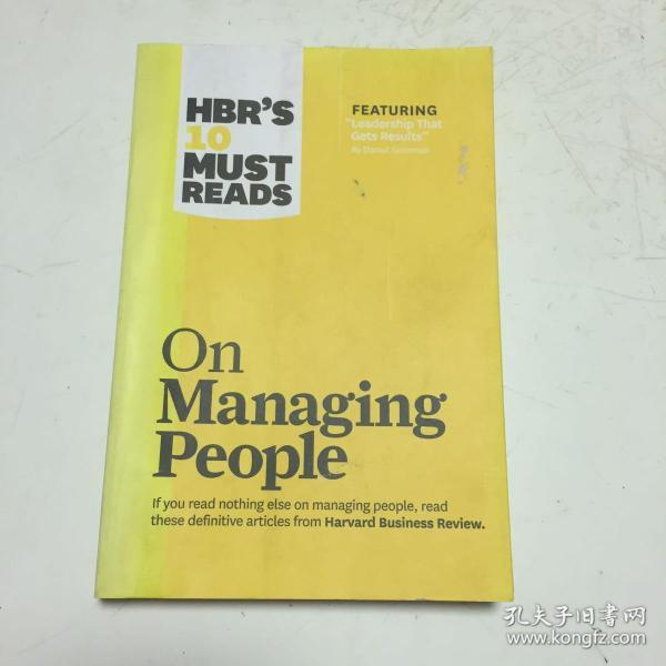 HBRs 10 Must Reads on Managing People