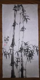 手绘真迹国画:陈静花鸟画18(2尺x1尺)