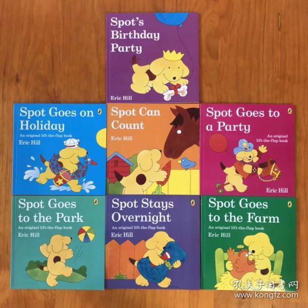 英文绘本儿童英语启蒙早教故事书Eric Hill 小波翻翻书立体书7本套