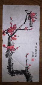 手绘真迹国画:陈静花鸟画22(2尺x1尺)
